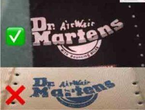 Tercera diferencia entre dr martens originales y falsas